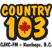 Country 103 (CJKC-FM) - 103.1 FM